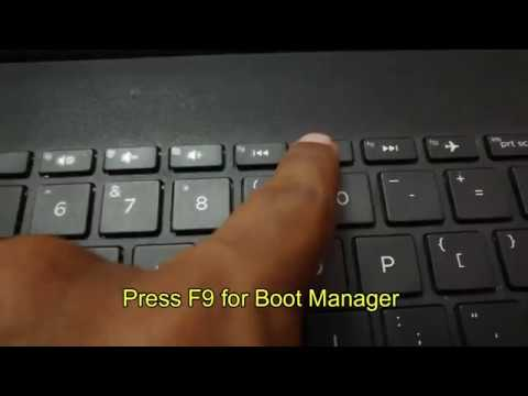 How To Boot HP Laptop And Install Windows 10 || Legacy Enabled