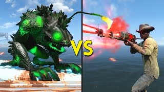 Fallout 4 - 100 FAKE PRESTONS vs 5 ANGLERS - Battles 62