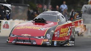 Funny Car points leader Courtney Force takes the top spot in Norwalk