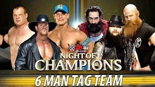 WWE 2K16 - REFEREE FREEZ!!! TOTAL MAYHEM - Undertaker, Kane and John Cena vs The Wyatt Family