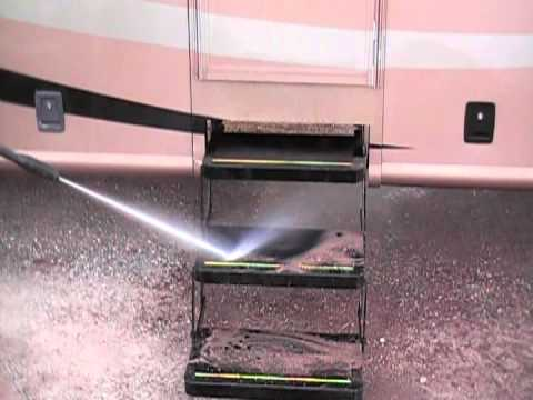 The Road Wave Rv Pressure Washer System In Action Youtube