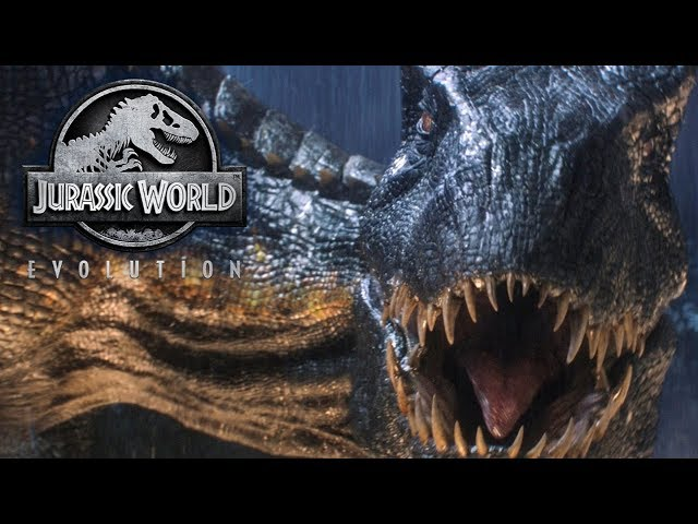 Jurassic World Evolution Dino Fights - T-Rex vs Spinosaurus vs Indominus Rex & Raptors breaking out!