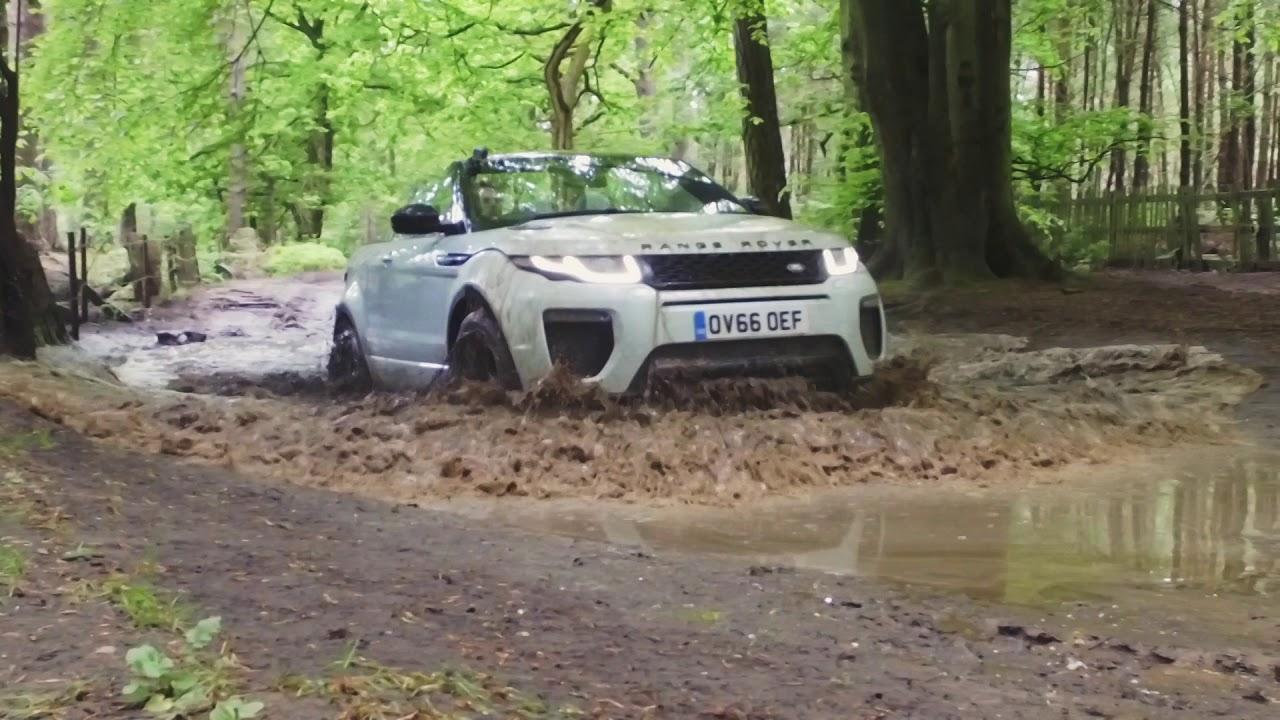 Range Rover Evoque Slow Mo Water Splash Whilst Off Roading