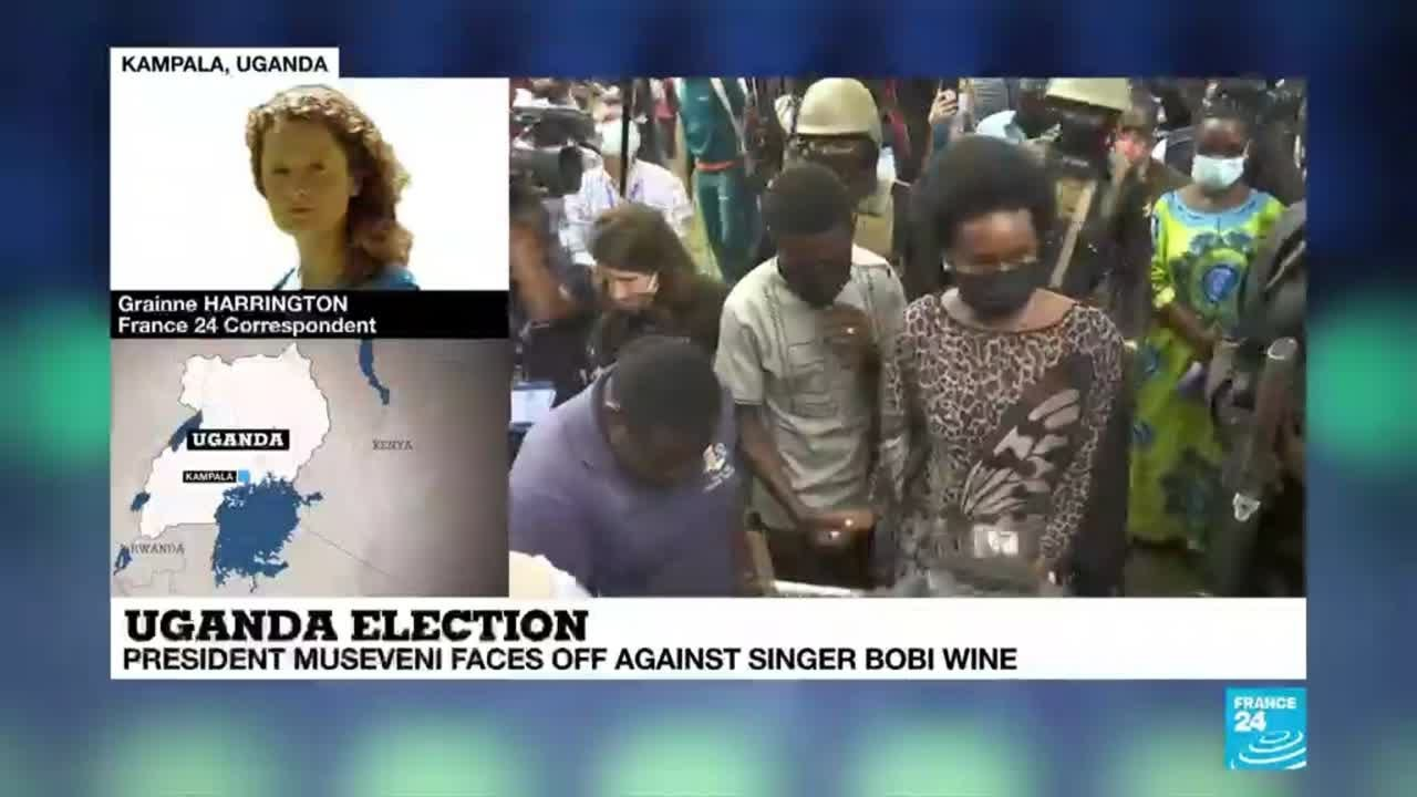 Uganda presidential election: President Museveni faces off against singer Bobi Wine