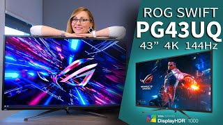 4k at 144hz and hdr 1000? meet the asus rog swift pg43uq get yours here: us: https://amzn.to/2vikvq8 (soon) eu: https://amzn.to/2irbueo sponsor: check out th...