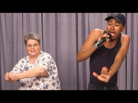 OMKalen Karaoke Battle: Kalen vs. Missy Elliot's Funky White Sister Mary Halsey