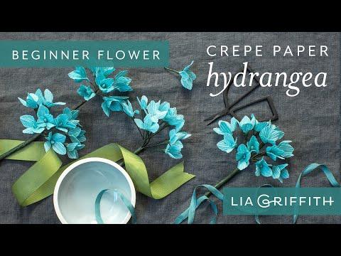 How to Make a Crepe Paper Hydrangea Bloom - Botanical Garden Starter Flower
