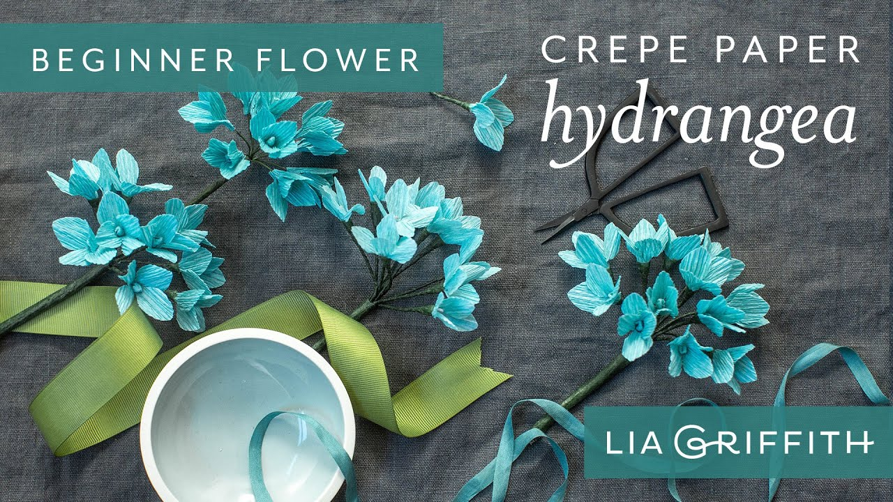 Video Tutorial: Heavy Crepe Paper Hydrangea (Starter Pattern)