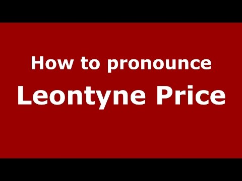 How to pronounce Leontyne Price (American English/US) - PronounceNames.com
