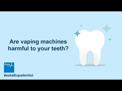 Are vaping machines harmful to your teeth?