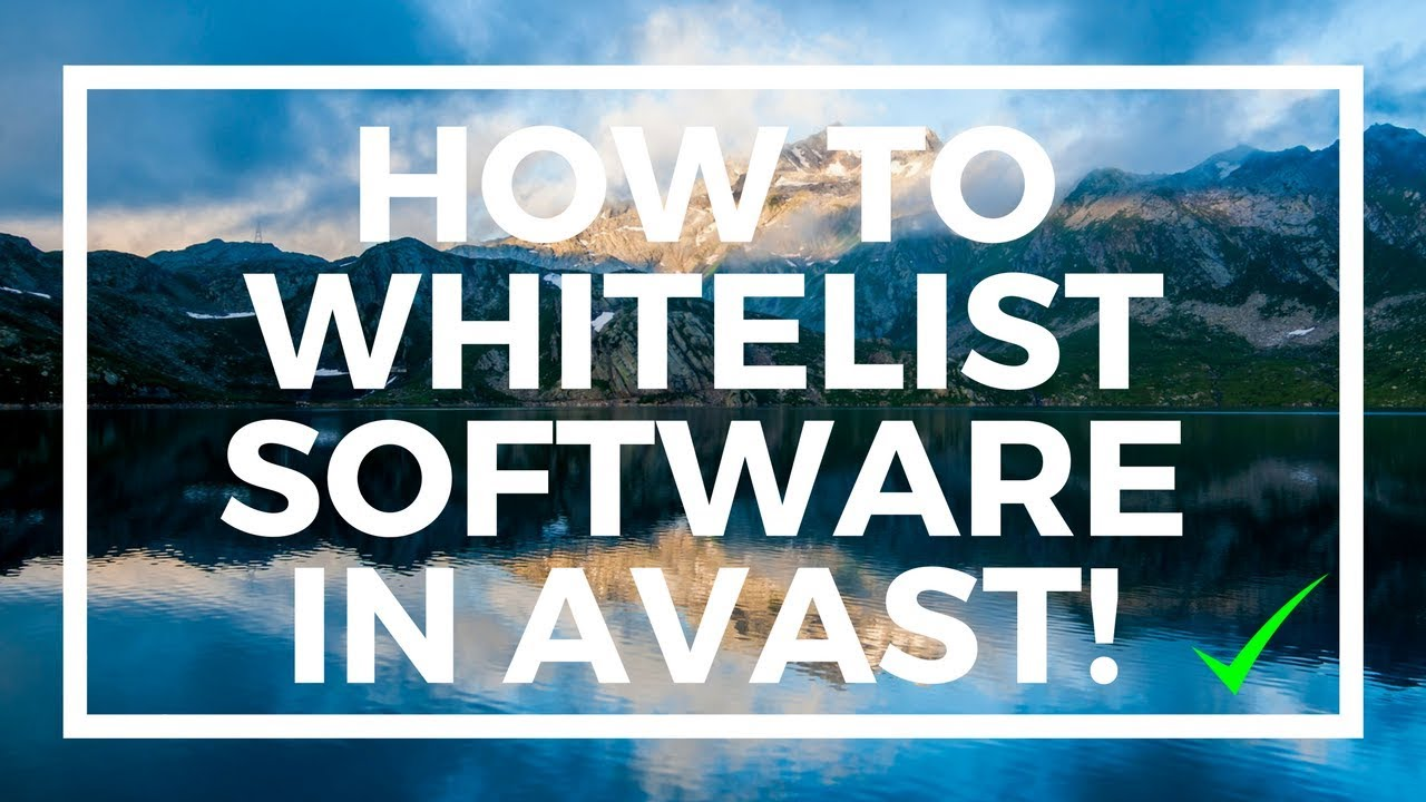 how to whitelist a file in avast