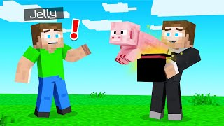 Doing MAGIC TRICKS For My Friends In MINECRAFT!