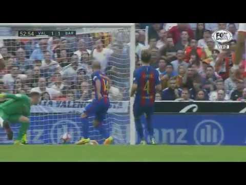 Gols   Valencia 2 x 3 Barcelona   Campeonato Espanhol 22 10 2016 HD