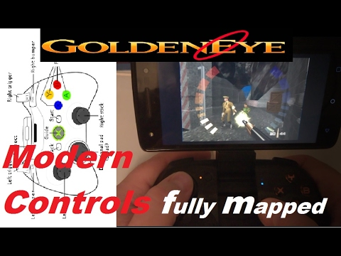 How to get Modern/shooter Controls for Goldeneye Single Player Rom (BEST  MAP) N64 for Xbox/MOGA