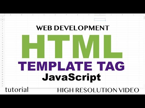 HTML Template Tag - HTML5 & JavaScript - Part 8