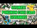 ULTIMATE Pokemon Code Card GIVEAWAY!   FREE Pokemon Code Cards!