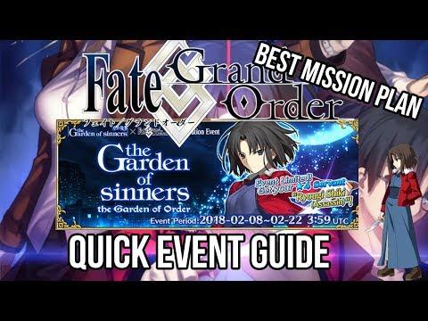 Fate Grand Order Kara No Kyokai QUICK Event Guide (Garden Of Sinners Event)