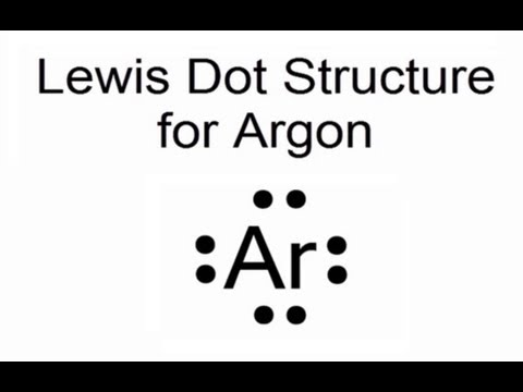Lewis dot structure for argon atom ar youtube ccuart Image collections