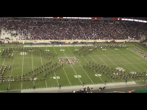 Fightin' Texas Aggie Band - 4-Way Cross for Western Carolina Game at Kyle Field on November 14, 2015