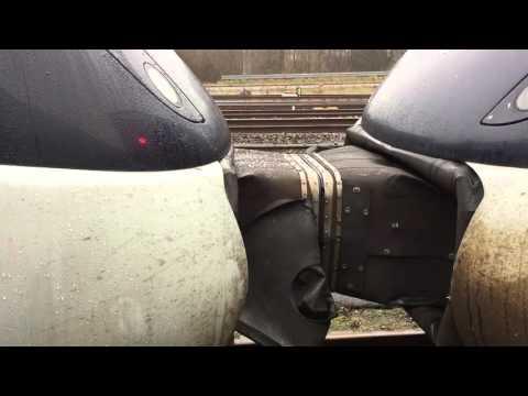 2 DSB IC4-togsæt sammenkobles