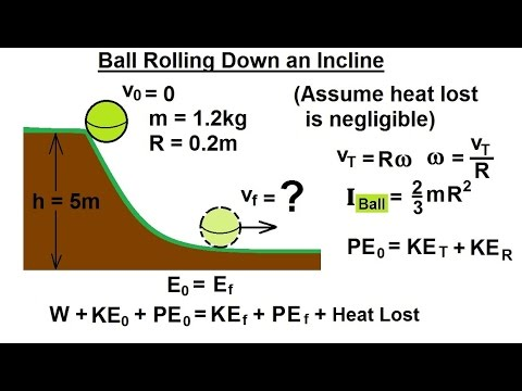 Physics - Mechanics: Rotational Kinetic Energy (4 of 19) Ball (Hollow) Rolling Down an Incline
