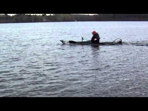 Kayak 36lb minn kota motor home made electric fishing for 12ft fishing kayak