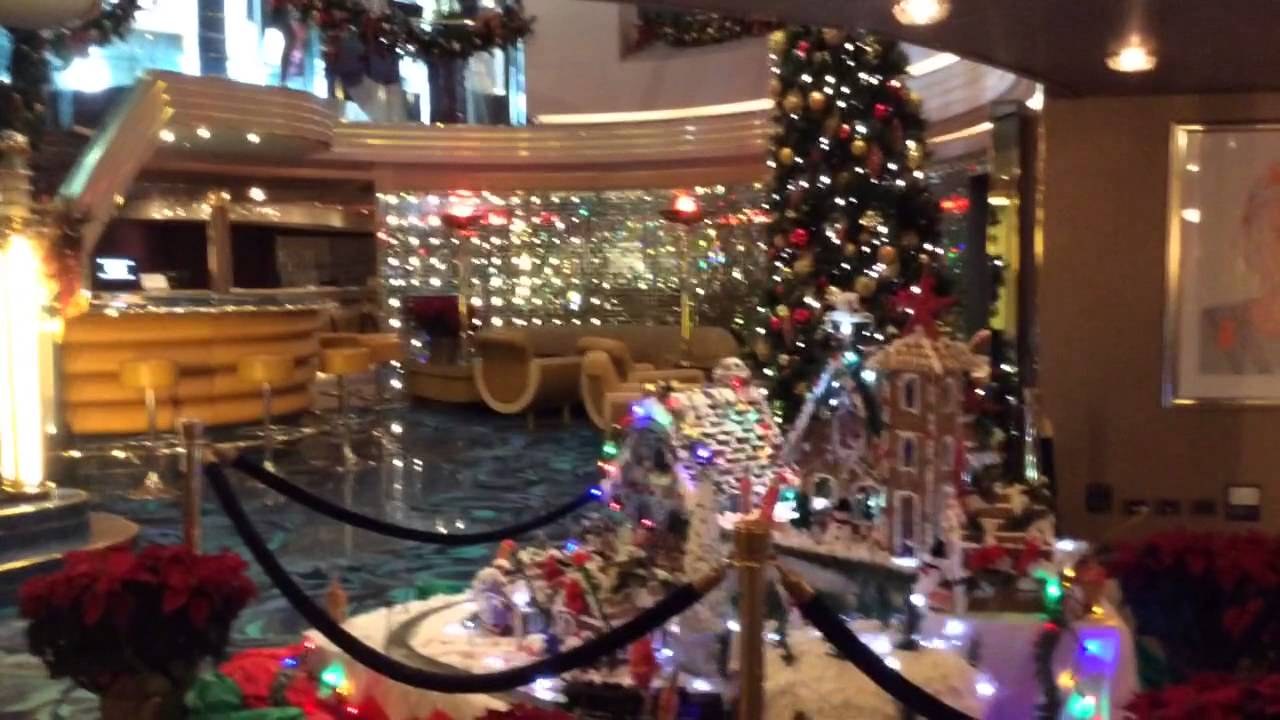 Christmas Scene On Cruise Ship  YouTube