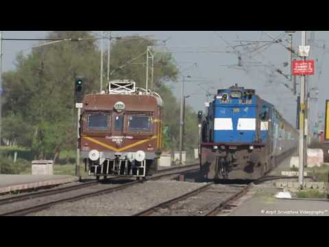 Diesel Loco vs Electric Loco at High Speed...