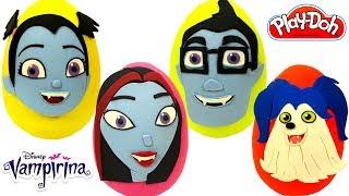 Ovos Surpresas da Vampirina e sua Família em Português Brasil de Massinha Play Doh