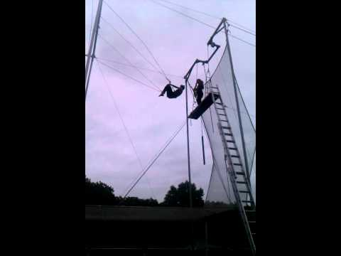 Carmen Ali on a Flying Trapeze