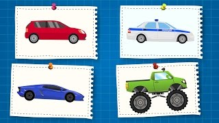 Мультики про Машинки.  Учим Цвета для Детей.  Новый Сборник