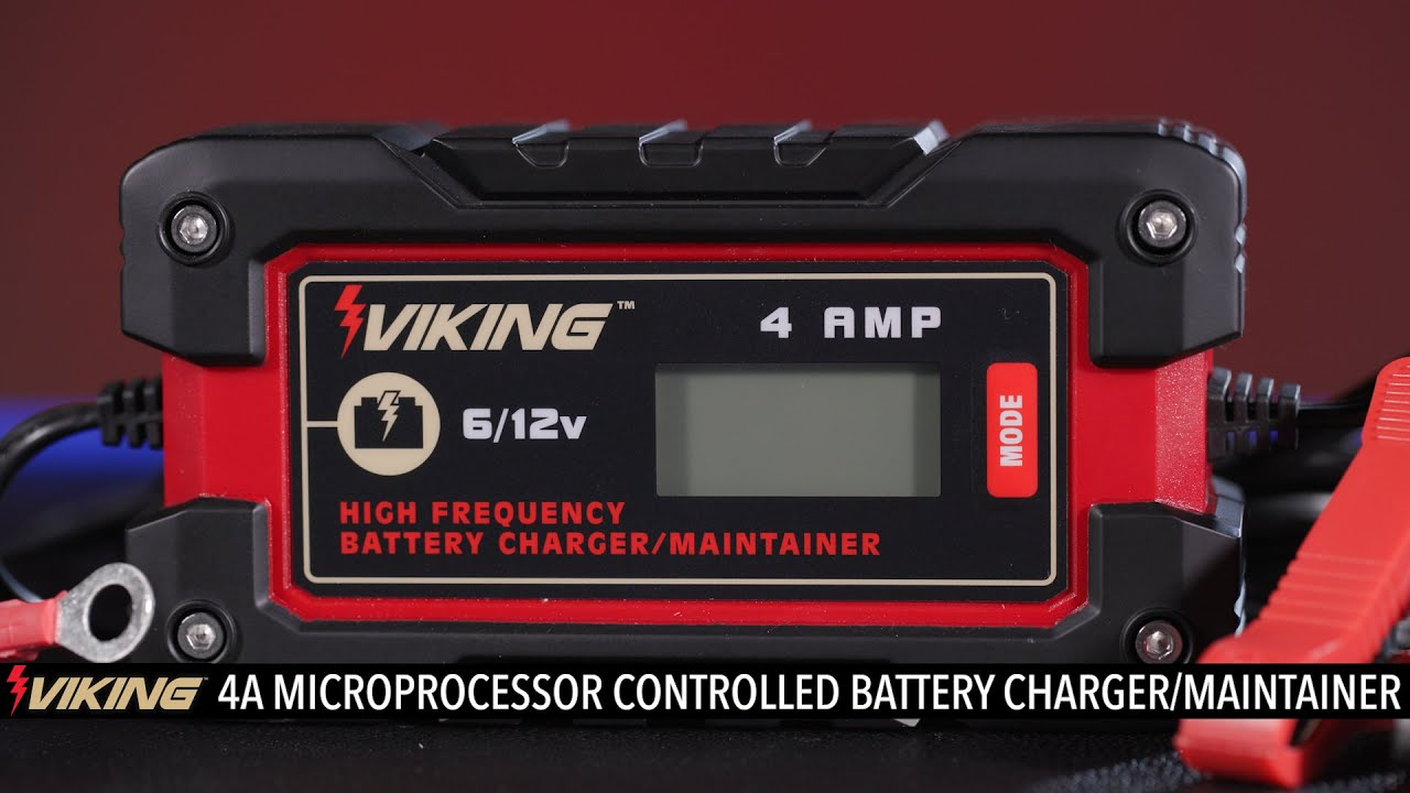 Viking 4A Fully Automatic Microprocessor Controlled Battery Charger & Maintainer