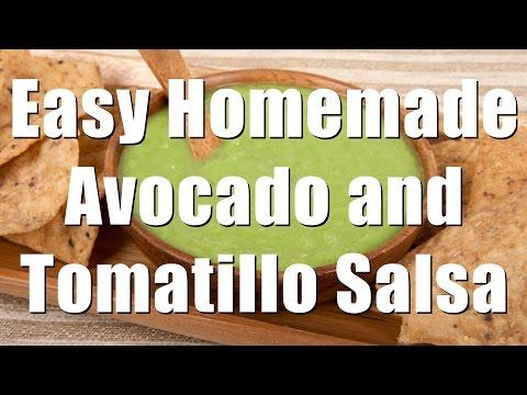 Homemade Avocado & Tomatillo Salsa