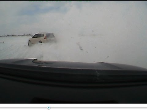 Lexus GX470 And Toyota Sequoia Playing In The  Snow At TMP Toronto Motorsports Park Cayuga