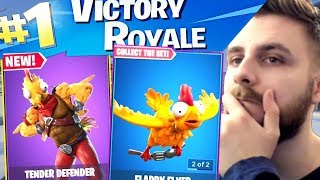 IRAPHAHELL MAKES THE FIRST WIN WITH THE GOOSE SKIN IN FORTNITE!