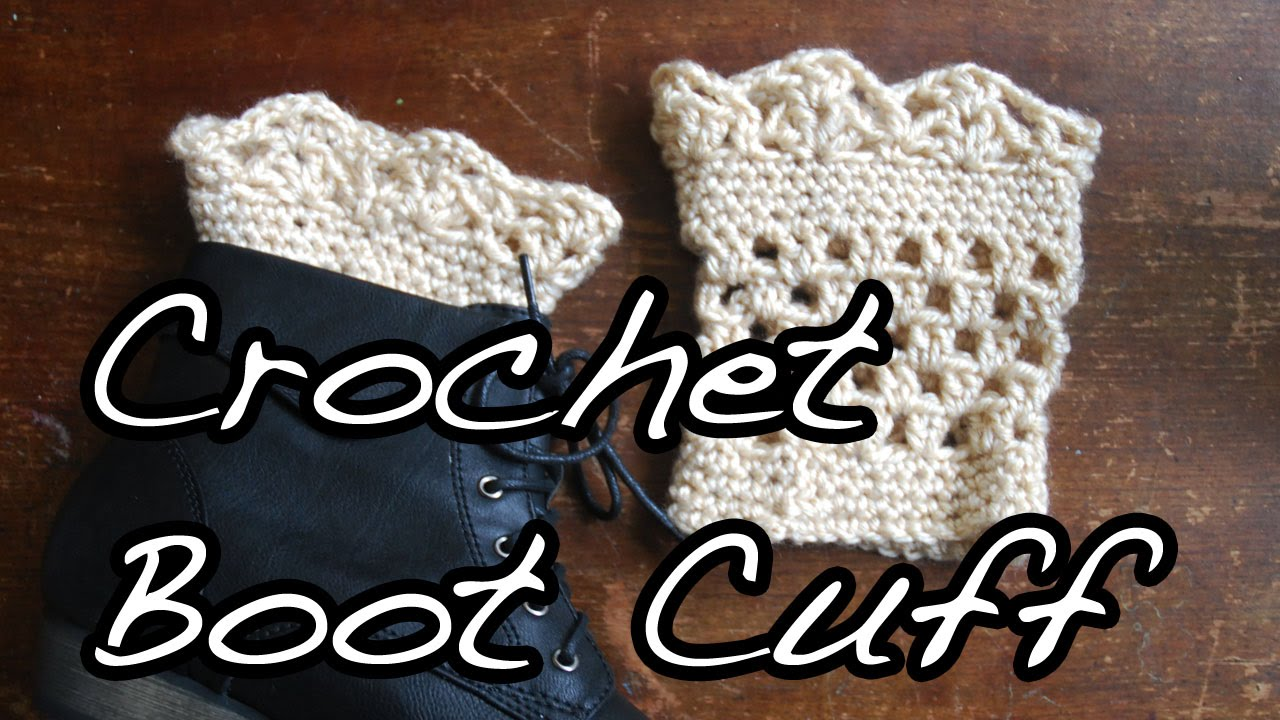 Crochet Boot Cuffs With Lace Pattern : Crochet Lace Boot Cuffs Tutorial - YouTube