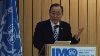United Nations Secretary-General Ban Ki-moon visited IMO Headquarters