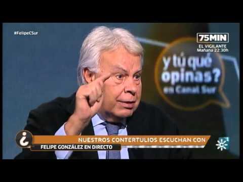 Entrevista a Felipe González en Canal Sur Televisión