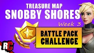 FORTNITE | Follow the Treasure Map in Snobby Shores Location (Week 3 Battle Pack Challenge)