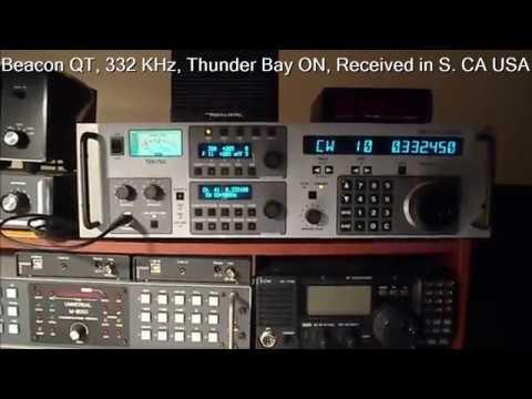 MF NDB Radio DX : Beacon QT, Ontario, Received in S. California