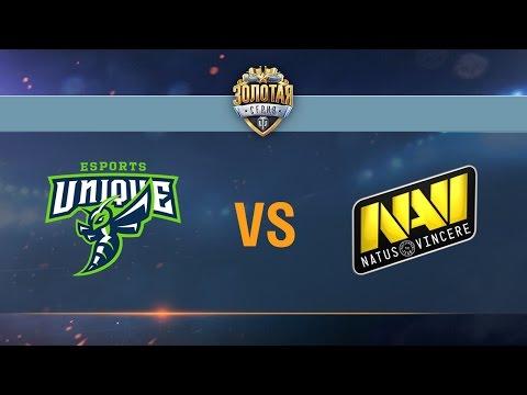 Natus Vincere G2A vs UNIQUE - day 3 week 8 Season II Gold Series WGL RU 2016/17