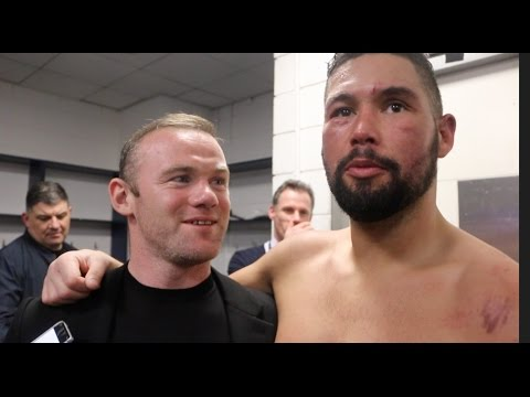 WAYNE ROONEY REACTS TO TONY BELLEW'S STUNNING WIN OVER DAVID HAYE AT THE 02 / HAYE v BELLEW