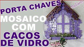 PORTA CHAVES COM A TÉCNICA DO MOSAICO DE VIDRO