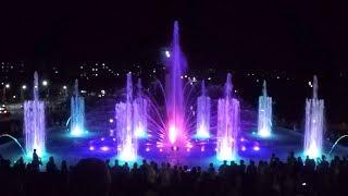 Умань, фонтан світломузичний з лазерним шоу, уманські фонтани з висоти