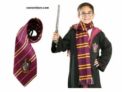 Harry Potter Halloween Costumes and Wand - YouTube