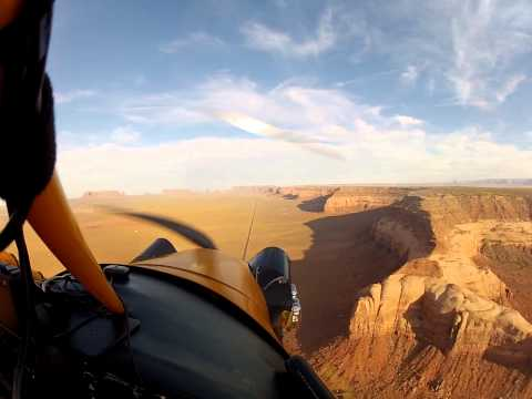 Float plane flight among the monuments of Monument Valley,U