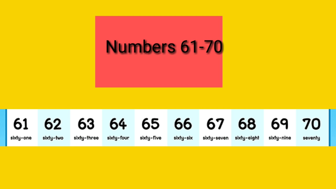 Numbers 61-70