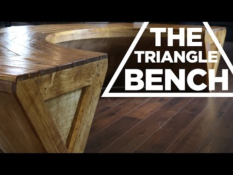 Mike Makes a Contemporary (kind of) Triangle Bench