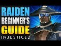 RAIDEN Beginner's Guide - Injustice 2 - All You Need To Know!