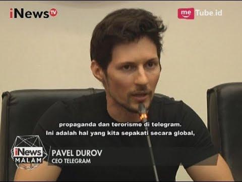 CEO Telegram Bertemu Menkominfo untuk Bahas Konten Negatif Telegram - iNews Malam 01/08